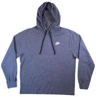 NIKE Mens Size Medium Gray Pullover Hoodie Long Sleeve Jersey BV2749-071 - EUC