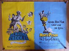 BLAZING SADDLES / MONTY PYTHON AND THE HOLY GRAIL - UK quad film/movie poster