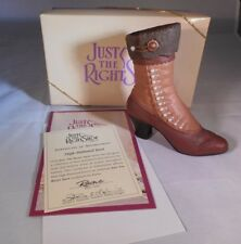 Just the Right Shoe High-Buttoned Boot #25043 Nib 1999 Raine