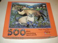 Ceaco Mimi Vang Olsen Pitschi & Butzli Cat Jigsaw Puzzle 500 pcs.