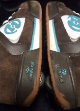 Heelys Shoes Grind Heely Skate 9173 Wheels Brown White Turquoise 6 Womens
