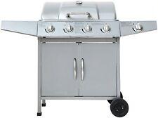 El Fuego Gasgrill Dayton Smoker Grill Grillwagen silber 4 plus 1 Brenner AY 459