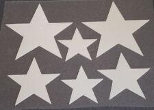 6 Sterne weiß Hotfix Reflektor Bügelbild Bügelmotiv Applikation  zum Aufbügeln