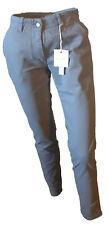 Pantalone Casual Chino Cotone Stretch Donna Grigio Polvere ALYSI Gamba Stetta 40