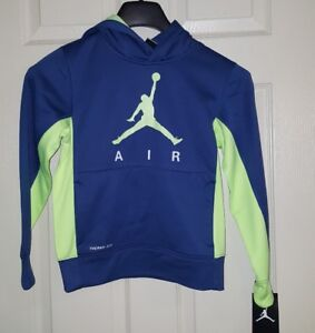 Authentic Nike Jordan Therma Fit Hoodie Jacket Youth S 8-10 Unisex blue/ green