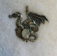 Pearl Dragon Womens Mens Pendant 925 Sterling Solid Silver Mother Of
