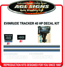 EVINRUDE TRACKER 40 HP DECAL KIT  stickers reproduction