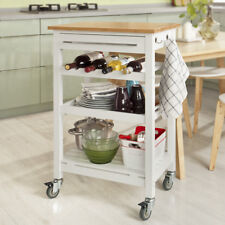 SoBuy® Rolling Home Kitchen Storage Trolley Cart with Bamboo Top, FKW16-WN, UK