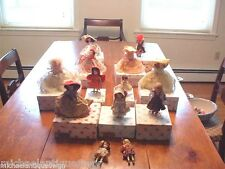 13 Vintage Nancy Ann Storybook Dolls W/Boxes and Tags