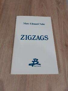 Marc-Edouard NABE, Zigzags, EO, 1986, Barrault (deuxième livre de l'auteur)