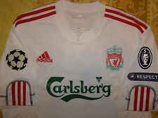 CARRAGHER 23 Champions League 2009 - 2010 Liverpool away shirt size L jersey