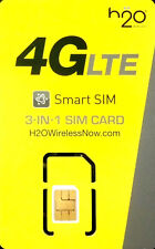 H2O SIM Card PLUS 3 months $60 plan Included (NEW OR PORT IN) 30GB 4G LTE data