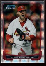 CHRIS CARPENTER CARDINALS MINT XFRACTOR RARE SP 2012 BOWMAN CHROME REFRACTOR 169