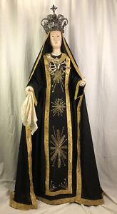 Madonna Addolorata Dolosa Triste statua sacra Santon 160 cm alt arte sacra