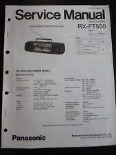 Original Service Manual Panasonic Radio Cassette RX-FT550