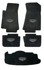 NEW! BLACK  FLOOR MATS 2005-2006 PONTIAC GTO CREST Embroidered Logo on all 5 Set