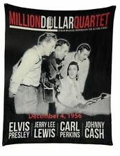 Million Dollar Quartet Johnny Cash Elvis Presley PLUSH SOFT blanket throw NEW