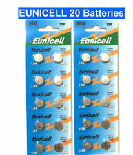 20 X EUNICELL AG13 LR44 SR44 L1154 A76 1.5V ALKALINE BUTTON/COIN CELLS BATTERIES