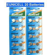 20 X EUNICELL AG13 LR44 SR44 L1154 A76 1.5V ALKALINE BUTTON/COIN CELLS BATTERIES