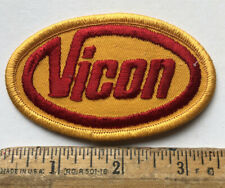 Vintage Vicon Logo Patch Iron On Farming Equipment Machinery Agriculture