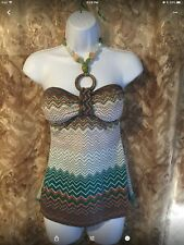 Niki Biki Strapless Halter Beaded Top Size S