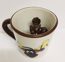 Moose In A Cup Drinking Coffee Glass With Baby Moose Inside Tea Christmas Decor