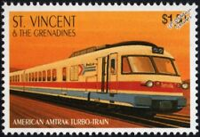 AMTRAK RTG TURBOLINER / TurboTrain Gas Turbine Train Locomotive Stamp (USA)