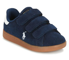 Polo Ralph Lauren Quincey Jnr UK 7 EU 24 Navy Blue Suede Touch Close Trainers