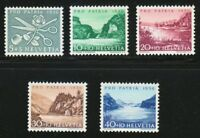 Switzerland 1956 MNH Mi 627-631 Sc B252-B256 Scissors,rose & Lakes,mountains **