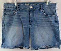 WJ75 Old Navy Womens sz 12 Shorts Blue Denim Jean The Sweetheart