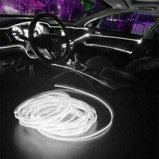 LED Car Interior Decor Atmosphere Wire White Trim Lamp Strip Light Accessories E
