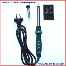 SOLDERING IRON 240V 40W- with Lead Solder & Table Stand- NEW.