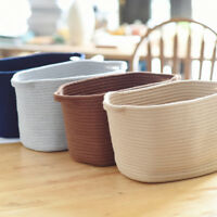 Cotton Woven Storage Basket Sundries Basket Kid's Toys Storage Organizer