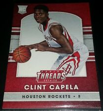 Clint Capela 2014-15 Panini Threads LEATHER Rookie Card (no.265)
