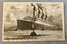 OLYMPIC STAMPED POSTMARK WHITE STAR LINE TITANIC BRITANNIC SISTER SHIP LINER