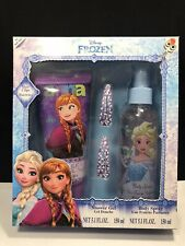 Disney Frozen Gift Set 2 Hair Clips, Body Spray & Shower Gel (5.1 Oz)~New