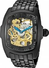 New Men's Invicta 1113 Lupah Mechanical Gold Tone Skeleton Dial Ceramic Watch