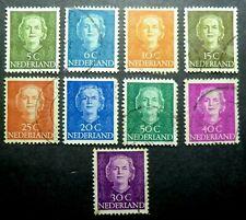 Netherlands Sc# 306 - 318 (no 309) 1949 Queen Juliana Dutch royalty Holland