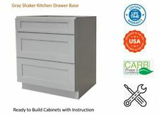 Gray Shaker Kitchen Drawer Base Cabinet