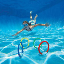 4 Pcs/set Diving Ring Buoys Outdoor Sports Beach Toys for Kids Summer Swimming