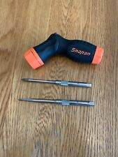 Snap-On Orange/Black Ratcheting 5-position Screwdriver #SGDMRCE4 With Shafts