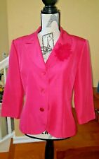 **Pretty Pink Silk blazer Lined with flower *Cynthia Howie* Maggy Boutique* s10