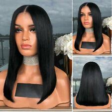 Femmes Court Bob Perruque Brésilien Remy Cheveux Droit Humain Perruques 15 Style