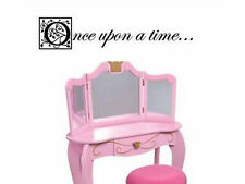 """ONCE UPON A TIME Words Girls Room Wall Decal Lettering Sticky Quote Sticker 24"""""""