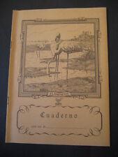 Antiguo Cuaderno Escolar de los años 60. FLAMENCOS