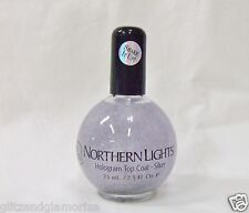 INM Nail Northern Lights Hologram Top Coat Glitter SILVER 2.5oz/73ml