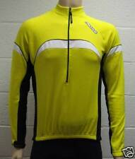 MIDAS Long Sleeve Winter Cycling Jersey - Yellow - Small