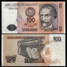 Peru 100 Intis 1987 UNC  P 133