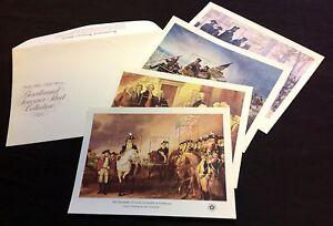 US SC#1686-89 Bicentennial Souvenir Sheet Collection (4) , original packaging