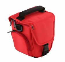 Trendz Case Cover with Neck-Strap and Belt Loop for Universal Bridge Cameras Red